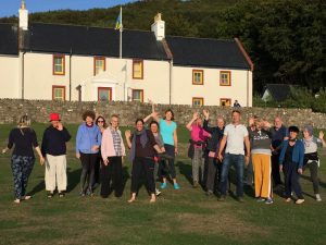 Sun Shining on Qigong & Meditation Participants, August 2018